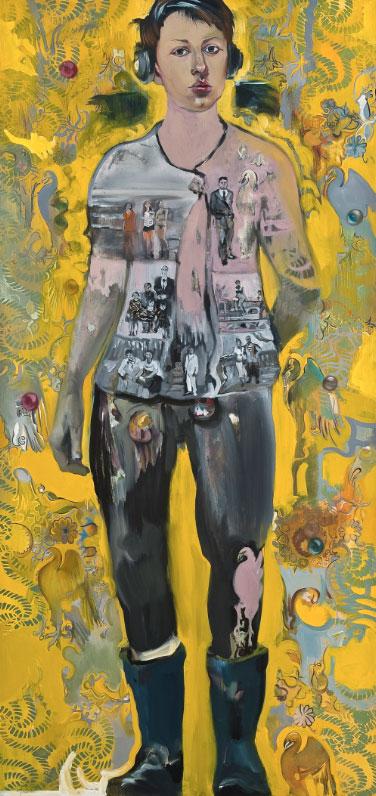 In giallo - olio su tela / oil on canvas, cm 95x200